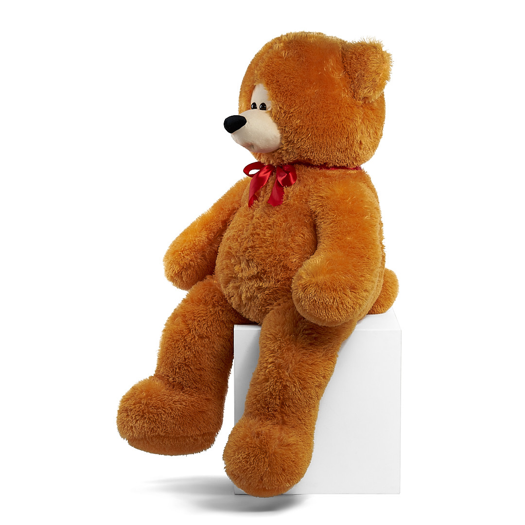 Плюшевый мишка Боря 120 см цвет карамель   Плюшевые медведи   Магазин плюшевые медведи