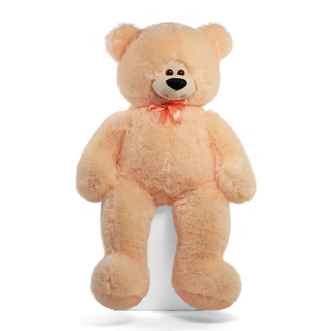 Плюшевый мишка Боря 180 см цвет персик   Плюшевые медведи   Плюшевый мишка отличный подарок