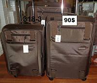 Набор чемоданов тройка 4 колеса  красный, фиолетовый