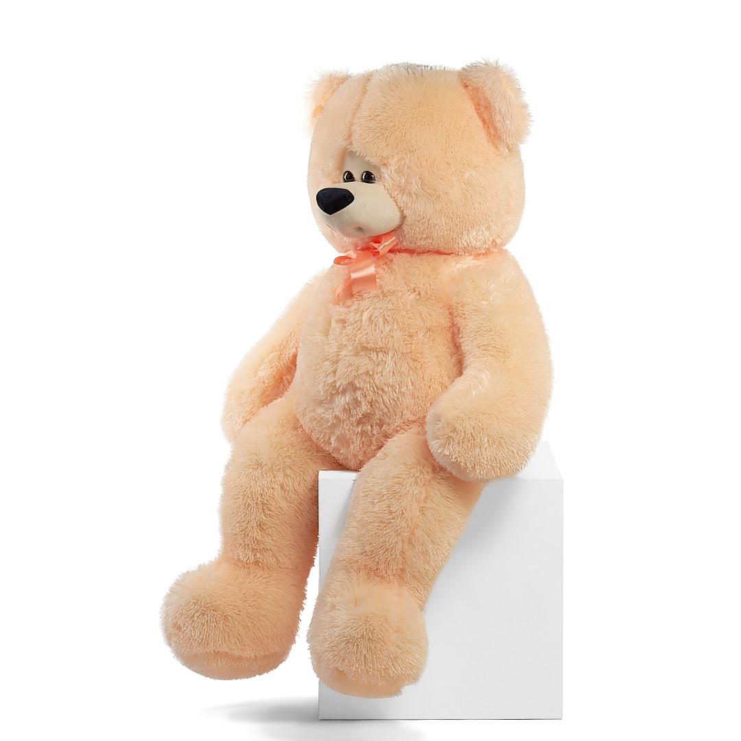 Мишка Боря 120 см цвет персик | Плюшевые медведи | Маленькие и Большие плюшевые мишки