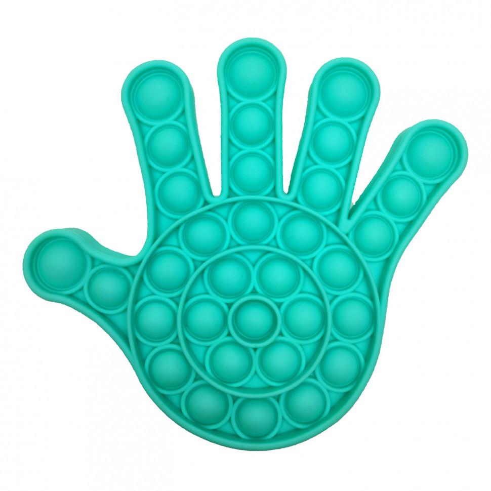 Антистрес іграшка-пупырка POP-IT Попит PPT-H Рука Бірюзовий
