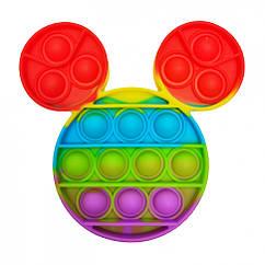 Антистресс игрушка-пупырка POP-IT Попит PPT-M Микки Маус Разноцветный