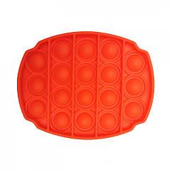 Антистресс игрушка-пупырка POP-IT Попит PPT-O Овал Оранжевый
