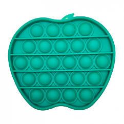 Антистресс игрушка-пупырка POP-IT Попит PPT-A Яблоко Зелёный