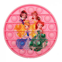 Антистресс игрушка-пупырка POP-IT Попит PPT-Prin Принцессы Розовый