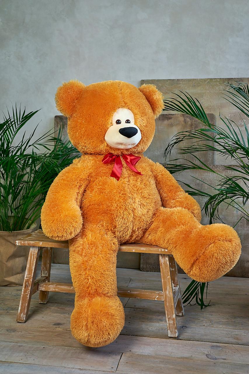 Медведь Боря 180 см цвет карамель | Плюшевые медведи | Маленькие и Большие плюшевые мишки