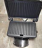 Гриль прижимной Rainberg RB-5412 c терморегулятором со съемным поддоном 2800W, фото 3