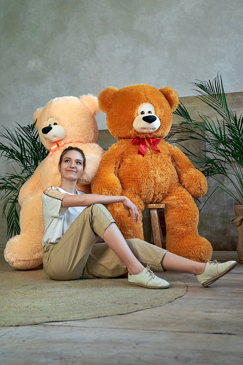 Плюшевый мишка Боря 120 см цвет карамель   Плюшевые медведи   Онлайн магазин мишек
