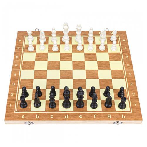 Настільна гра 3в1 шахи, шашки, нарди, 39х39см, дерево