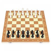 Настільна гра 3в1 шахи, шашки, нарди, 39х39см, дерево, фото 1