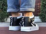 Мужские кроссовки Nike Air Force 1 LV8 High (белые с черным) спортивная кожаная обувь KS 1618, фото 5