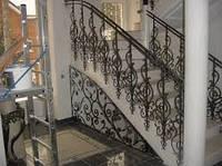 Лестничные перила из металла