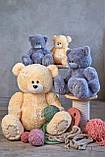 Мишка Тедди 110 см цвет серый | Шикарные плюшевые медведи | Магазин плюшевые медведи, фото 4