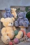 Мишка Тедди 110 см цвет серый | Шикарные плюшевые медведи | Магазин плюшевые медведи, фото 3
