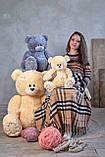 Мишка Тедди 110 см цвет серый | Шикарные плюшевые медведи | Магазин плюшевые медведи, фото 2