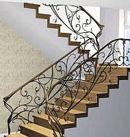 Перила кованые для лестницы на улице