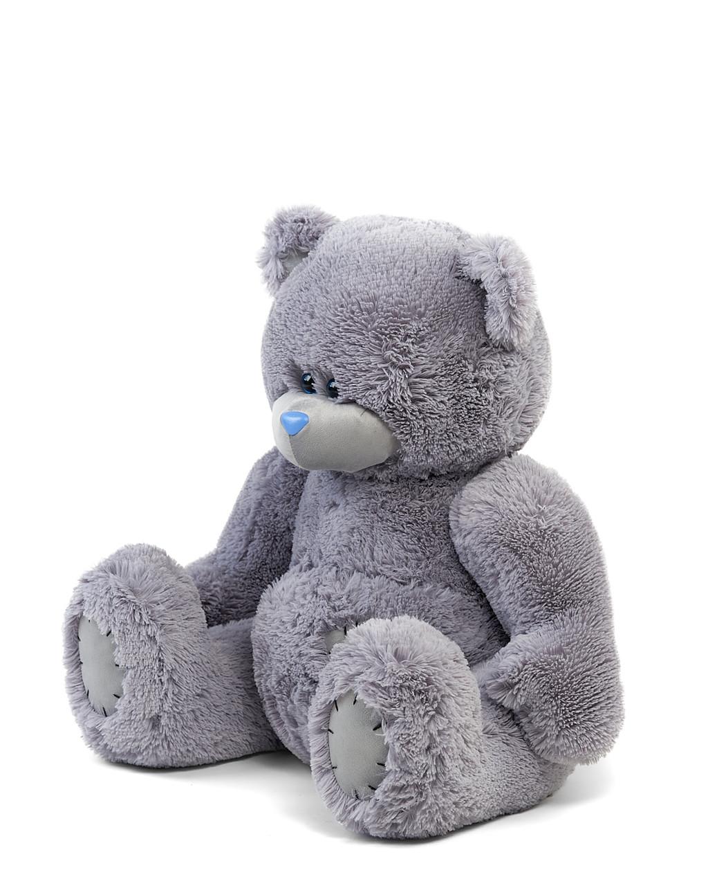 Мишка Тедди 90 см цвет серый   Шикарные плюшевые медведи   Магазин плюшевые медведи
