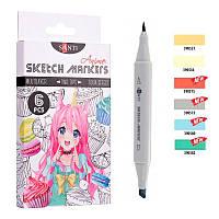 "Набор маркеров ""SANTI sketch"" ""Anime"""