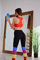 Комплект спортивной одежды NV Sapphire красно-черный, фитнес одежда для женщин