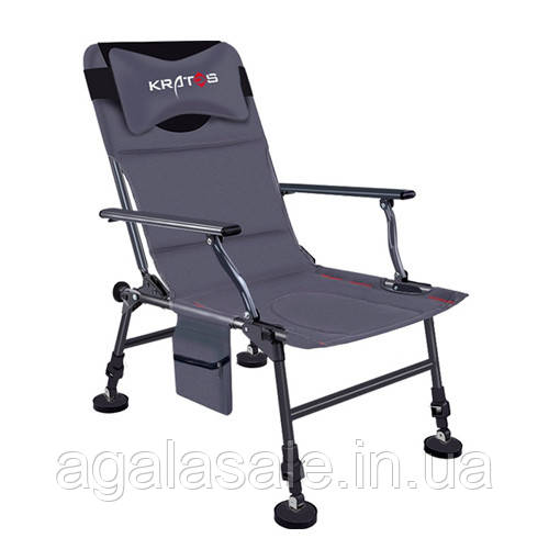 Кресло фидерное для рыбалки, складное с подушкой и чехлом, Kratos