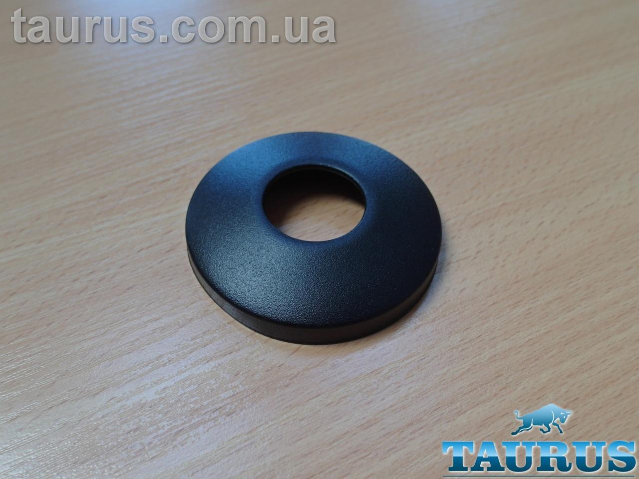"""Круглый чёрный сферический декоративный фланец D70 / высота 14 мм Black, внутренний размер 3/4"""" (D25 мм)"""