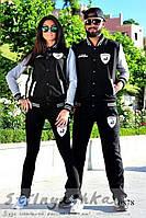 Спортивный костюм мужской и женский Lamborghini черный с серым, фото 1