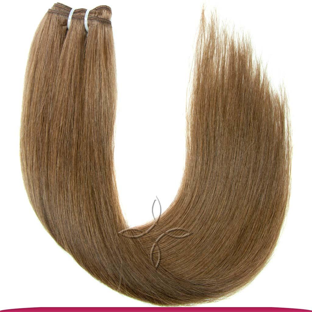 Натуральные Славянские Волосы на Трессе 45-50 см 100 грамм, Шоколад №05