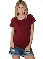 8204(1) Футболки для беременных мам Бордовая