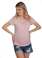 8206 Футболка для беременных с секретом для кормления Розовая
