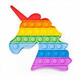 М'яка іграшка антистрес, нескінченна пупырка Pop It Веселкове коло, фото 4