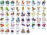 Набор фигурок Покемон 144 шт из Аниме комиксов, игры Pokemon GO: Пикачу, Иви, Мьюту, Бульбазавр, 2-3см, фото 4