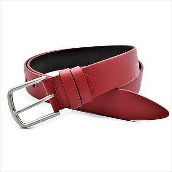 Женский кожаный ремень Красный Яркий женский кожаный пояс Пояс из кожи для девушки