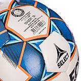Мяч футбольный №5 SELECT DIAMOND IMS NEW (FFPUS 1200, белый-синий-оранжевый), фото 3
