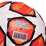 Мяч футбольный №3 PU ламин. CHAMPIONS LEAGUE FB-0150-2 (№3, 5 сл., сшит вручную, белый-красный), фото 3