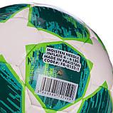 Мяч футбольный №4 PU ламин. CHAMPIONS LEAGUE FB-0152-1 (№4, 5 сл., сшит вручную, белый-зеленый), фото 3