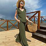 """Летний женский костюм с широкими брюками """"Ясмин""""  Норма и батал, фото 5"""