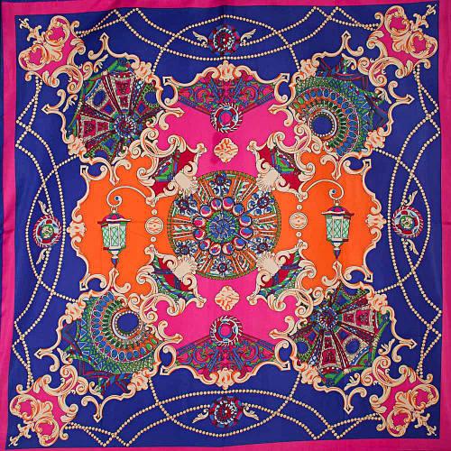 Женский оригинальный атласный платок размером 100*101 см ETERNO (ЭТЕРНО) ES0406-3-19