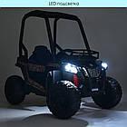 Дитячий електромобіль JS370EBLR-2 (24В) з колесами Eva, що відкривається дверима, 200W, 2 мотора, шкіряні, фото 5
