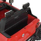Дитячий електромобіль Джип M 4531EBLR-3 з колесами Eva, шкіряним сидінням, 4 мотора, 55 W, USB, фото 6