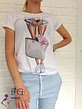 """Стильная футболка с принтом """"Bouquet"""", фото 7"""