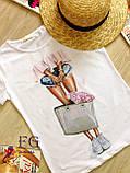 """Стильная футболка с принтом """"Bouquet"""", фото 8"""