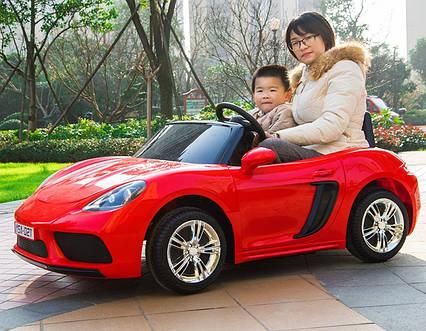 Детский электромобиль Машина M 4055AL-3 с колесами Eva, открывающимся дверями, 180W, и 1 мотором, USB, чехол
