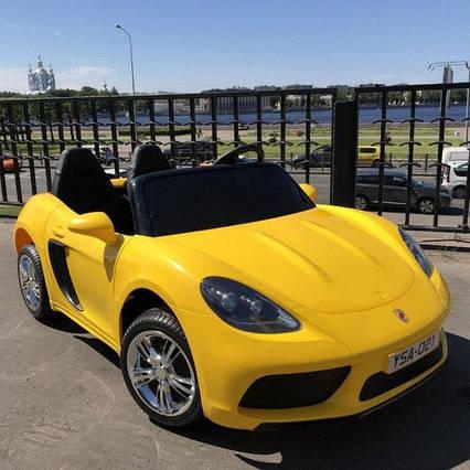 Детский электромобиль Машина M 4055AL-6 с колесами Eva, открывающимся дверями, 180W, и 1 мотором, USB, чехол