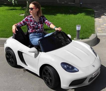 Детский электромобиль Машина M 4055AL-1 с колесами Eva, открывающимся дверями, 180W, и 1 мотором, USB, чехол