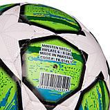 М'яч футбольний №5 PU ламін. CHAMPIONS LEAGUE FB-0149-1 (№5, 5 сл., Зшитий вручну, білий-зелений), фото 3