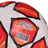 М'яч футбольний №5 PU ламін. CHAMPIONS LEAGUE FB-0149-2 (№5, 5 сл., Зшитий вручну, білий-червоний), фото 3