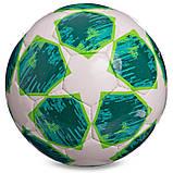Мяч футбольный №5 PU ламин. CHAMPIONS LEAGUE FB-0151-1 (№5, 5 сл., сшит вручную, белый-зеленый), фото 2