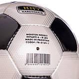 Мяч футбольный №5 PU ламин. OFFICIAL FB-0169-1 черный (№5, 5 сл., сшит вручную), фото 3