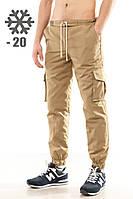 """Зимние мужские штаны карго """"Ястребь"""" песок есть опт, фото 1"""