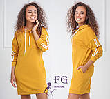 "Спортивное платье с капюшоном и карманами ""Lazio""| Норма, фото 9"